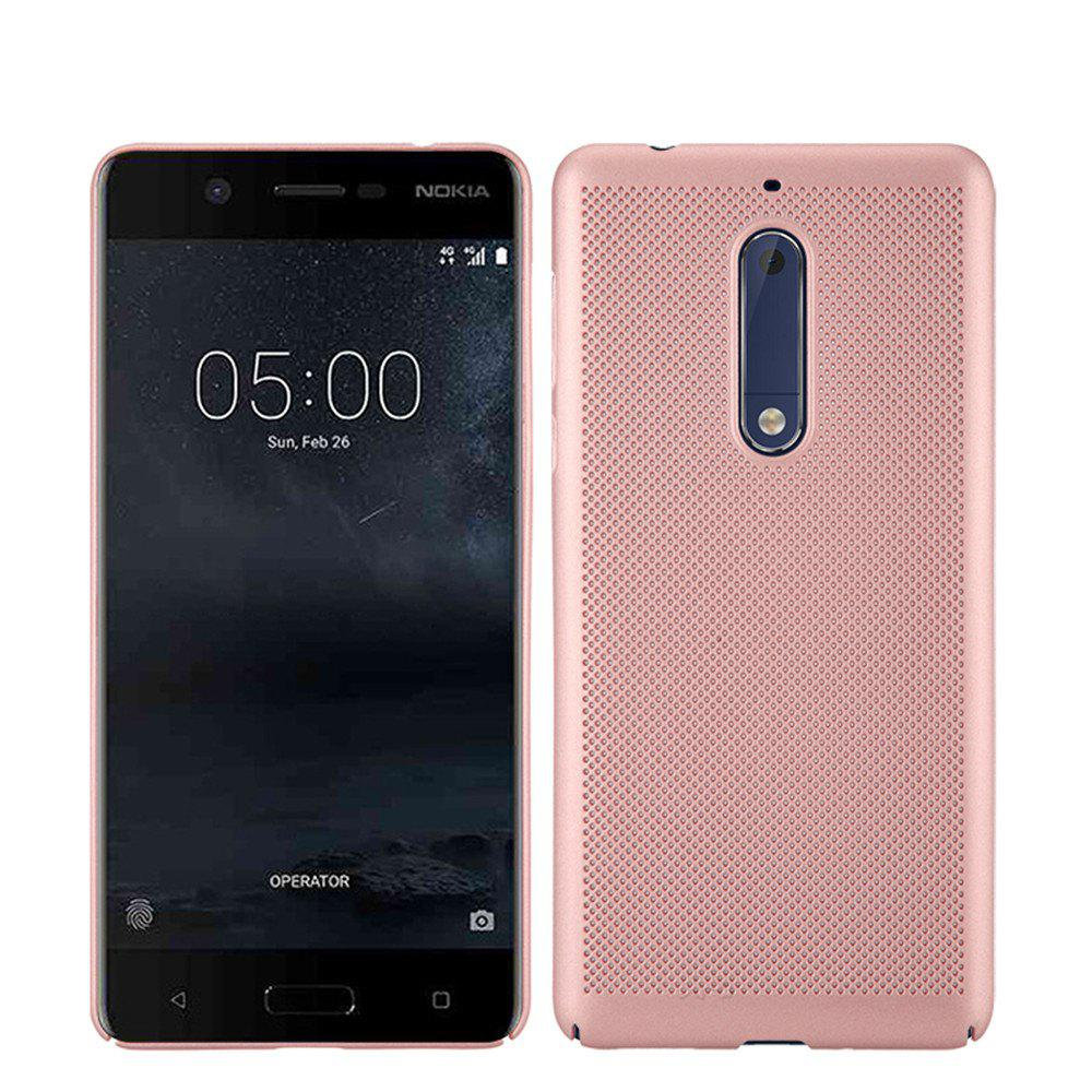 Heat Dissipation Ultra-thin Frosted Back Cover Solid Color Hard PC Case for Nokia 5 - ROSE GOLD