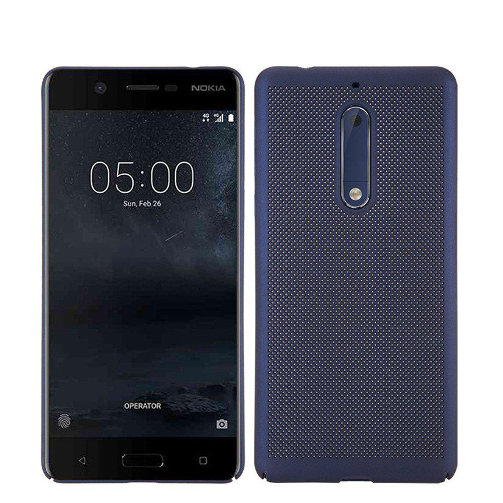 Heat Dissipation Ultra-thin Frosted Back Cover Solid Color Hard PC Case for Nokia 5 - CERULEAN