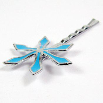 Hair Band Accessories Cosplay Blue Flower Clip Barrette Decoration - BLUE 7 CM