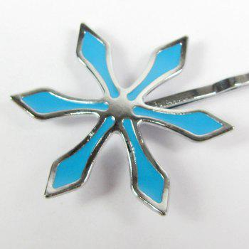 Hair Band Accessories Cosplay Blue Flower Clip Barrette Decoration - BLUE BLUE