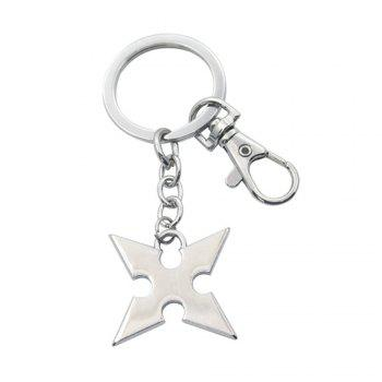 King Hearts Keychain Accessories Rhombus  Metal Alloy Keyring Gadgets Pendant - SILVER AND GREY SILVER/GREY