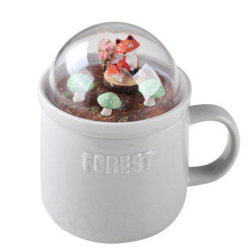 400ML Creative Forest Landscape Ceramic Cup -  GRAY