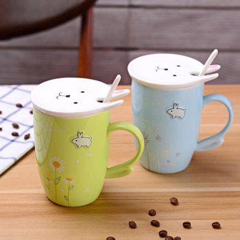 450ML Cherry Blossom Breakfast Mug -  BLUE