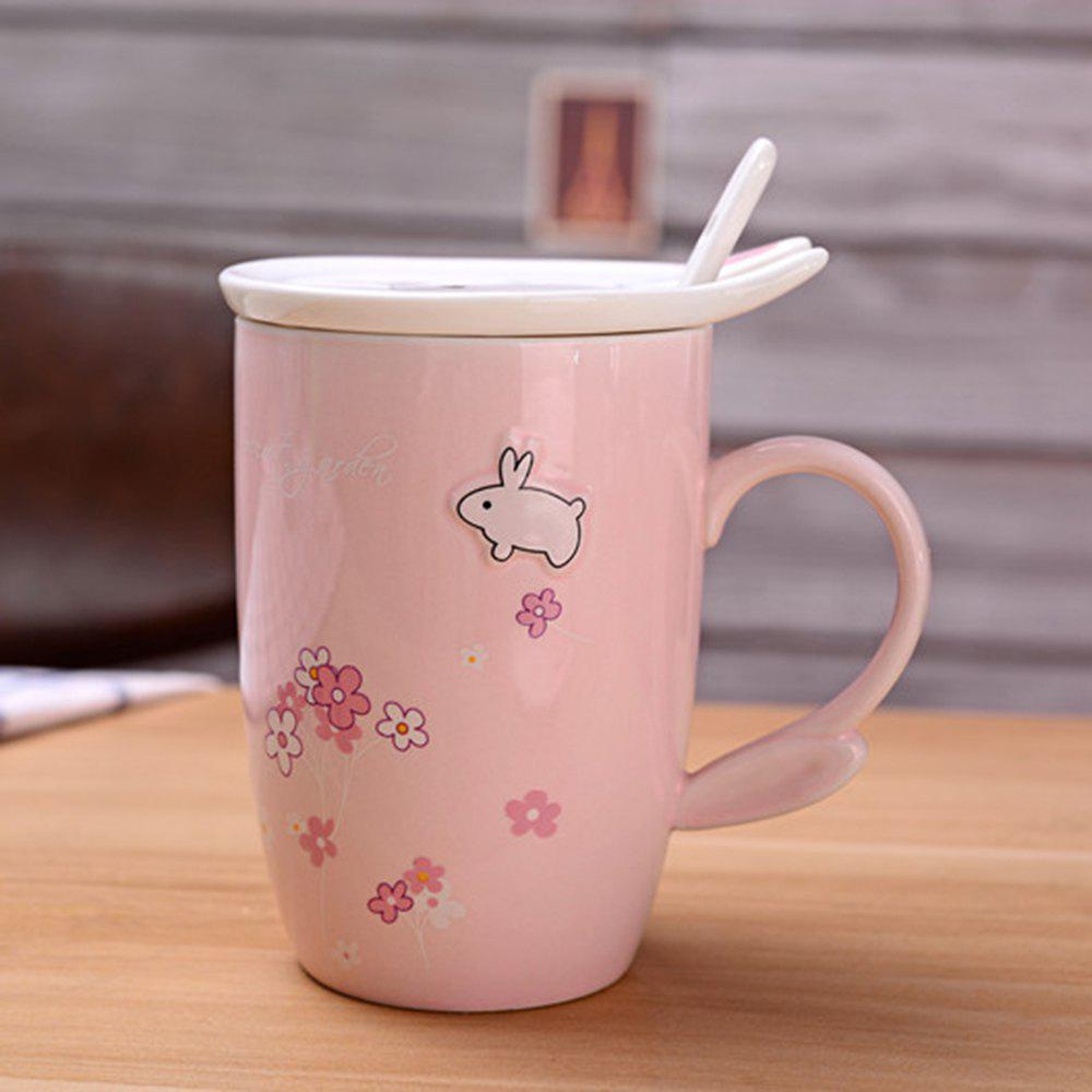 450ML Cherry Blossom Breakfast Mug - PINK