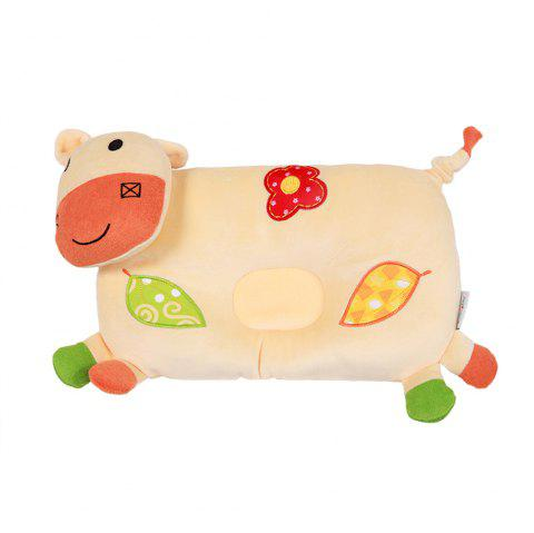 Cute Cow Shaped Baby Pillow - YELLOW