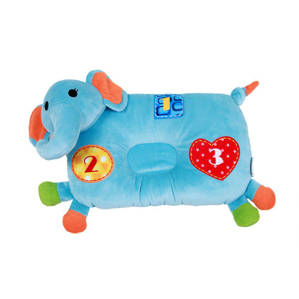 Cute Cow Shaped Baby Pillow - BLUE