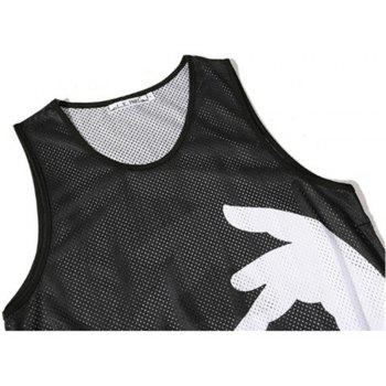Men Print Quick-drying Tank Top - BLACK L