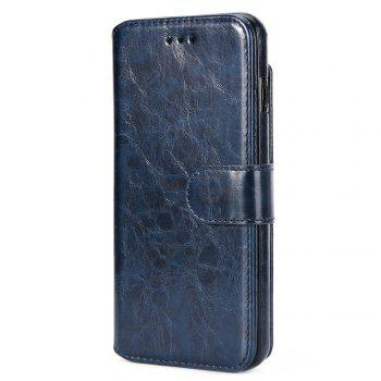 Stone Grain Wallet Stent Bumpers for iPhone 7 - BLUE BLUE