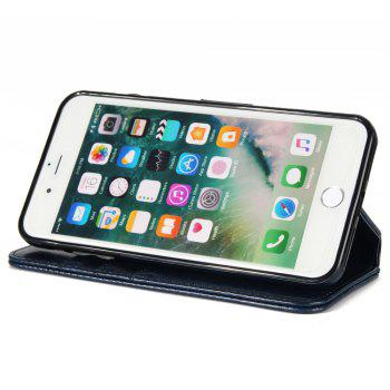 Stone Grain Wallet Stent Bumpers for iPhone 7 -  BLUE