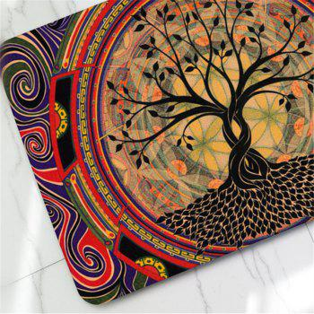 Tapis de Pied Antidérapant Creative Tree Pattern - multicolorcolore