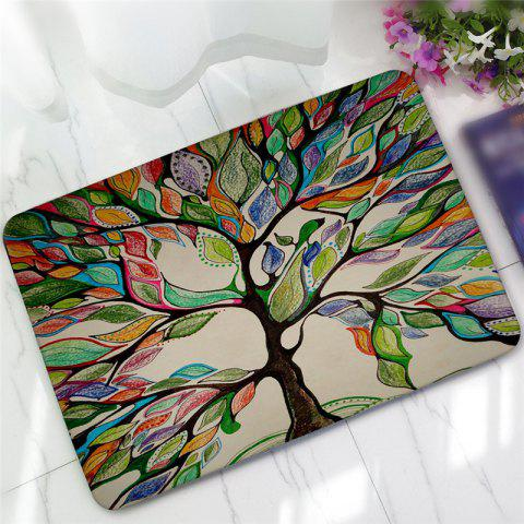 Tapis de Terre Antidérapant Creative Big Tree Pattern - multicolore