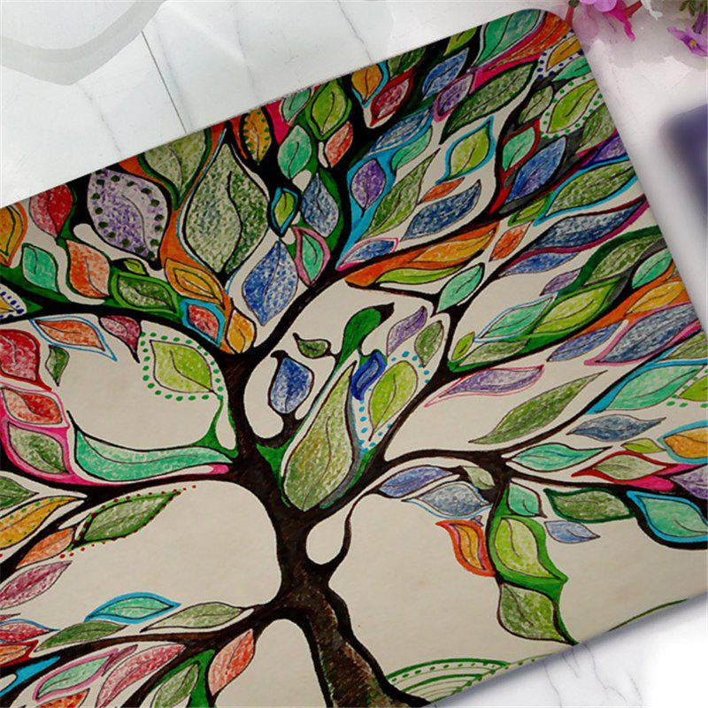 Tapis de Terre Antidérapant Creative Big Tree Pattern - multicolorcolore