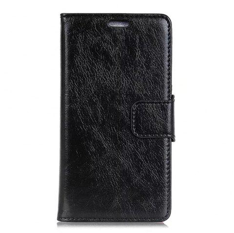 PU Leather TPU Inner Book Cover with Kickstand ID Card Slots Magnetic Closure Protective Skin for iPhone X - BLACK