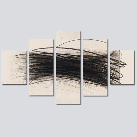41% OFF] 2018 QiaoJiaoHuanYuan No Frame Canvas Abstract line ...