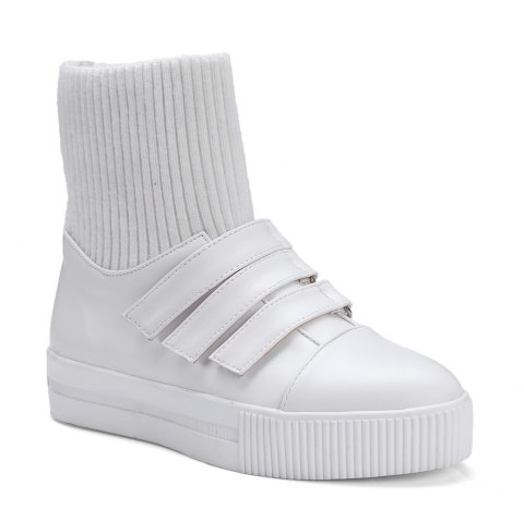 Women's Brief Style Solid Color Casual Shoes - WHITE 34