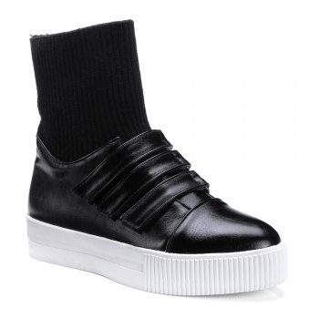 Women's Brief Style Solid Color Casual Shoes - BLACK BLACK