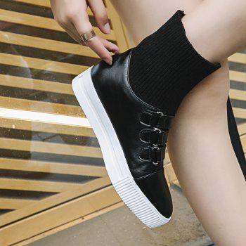 Women's Brief Style Solid Color Casual Shoes - BLACK 34