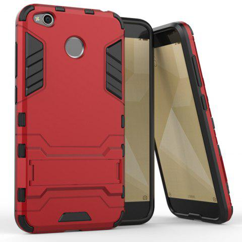 Dual Layer Armor Defender Shockproof Protective Hard Case With Stand for Xiaomi Redmi 4X - RED
