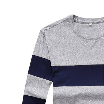 Men's Fashion Hit Color Slim Long-Sleeved T-Shirt - LIGHT GRAY 2XL
