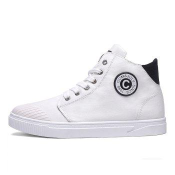 High Canvas Men's Shoes - WHITE WHITE