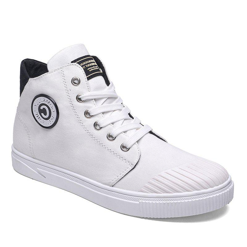 High Canvas Men's Shoes - WHITE 40