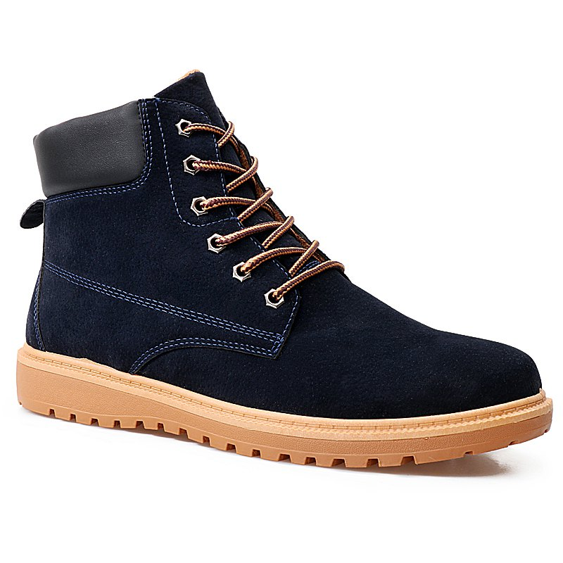 Leisure Fashion Martin Shoes - DEEP BLUE 42
