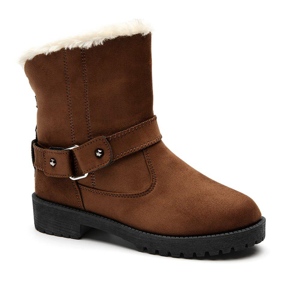 Faux Fur Leisure Snow Ankle Boots