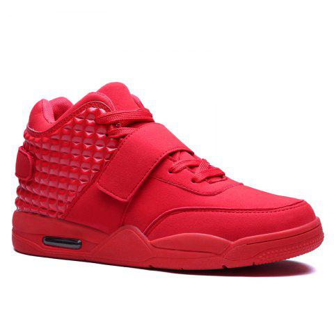 Men High Vamp Fashion Casual Sport Shoes - RED 43