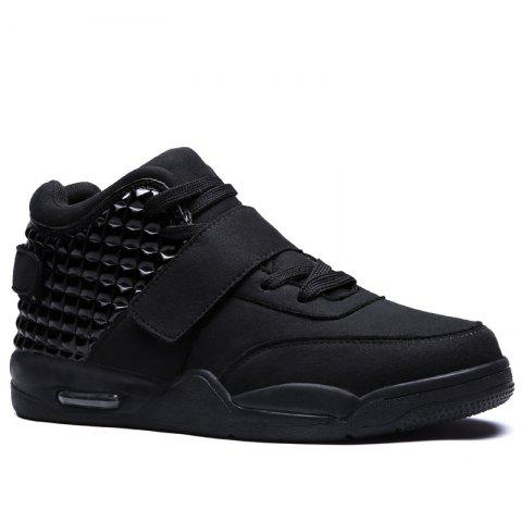Men High Vamp Fashion Casual Sport Shoes - BLACK 40