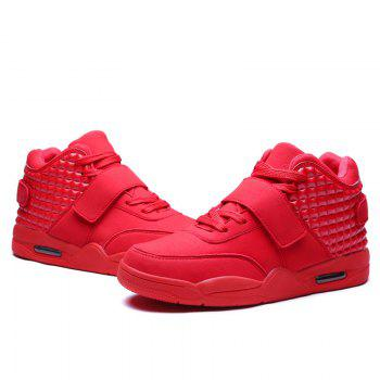 Men High Vamp Fashion Casual Sport Shoes - RED 44
