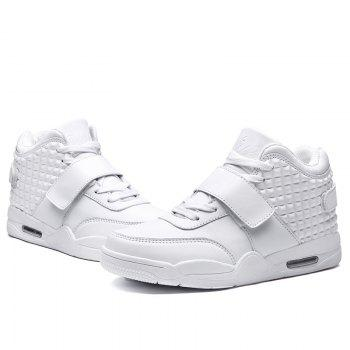 Men High Vamp Fashion Casual Sport Shoes - WHITE 41