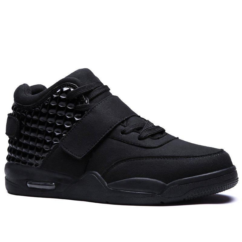 Men High Vamp Fashion Casual Sport Shoes - BLACK 42