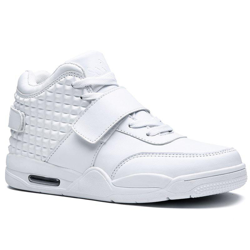Men High Vamp Fashion Casual Sport Shoes - WHITE 43