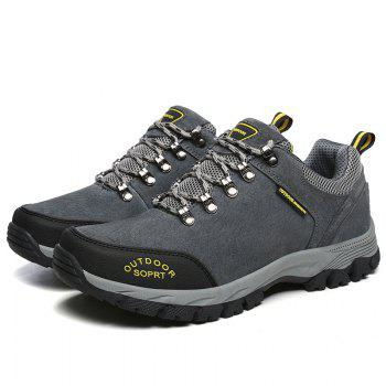 Men Big Size Outdoor Sports Shoes - GRAY 45