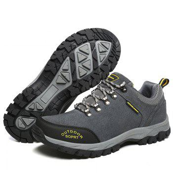 Men Big Size Outdoor Sports Shoes - GRAY 42