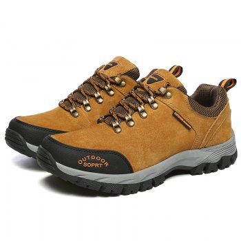 Men Big Size Outdoor Sports Shoes - BROWN 45
