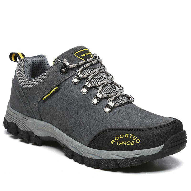 Men Big Size Outdoor Sports Shoes - GRAY 40