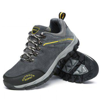 Men Big Size Fashion Outdoor Shoes - GRAY 43
