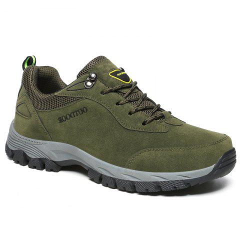 Men Fashion Big Size Outdoor Soft Shoes - ARMYGREEN 44