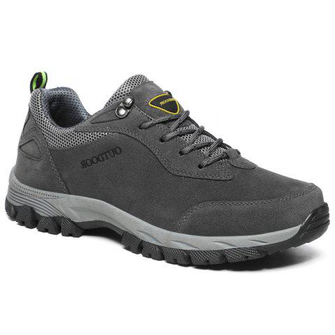Men Fashion Big Size Outdoor Soft Shoes - GRAY 40