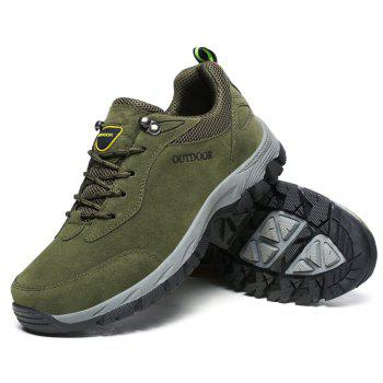 Men Fashion Big Size Outdoor Soft Shoes - ARMYGREEN 43