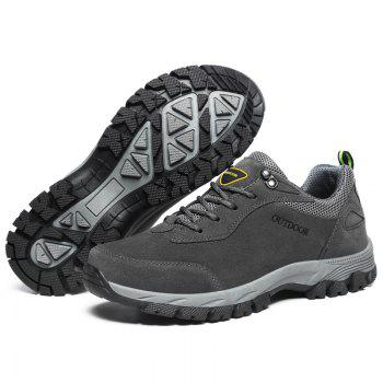 Men Fashion Big Size Outdoor Soft Shoes - GRAY 47