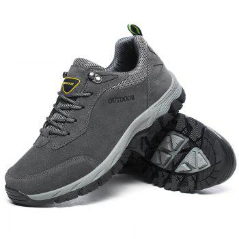 Men Fashion Big Size Outdoor Soft Shoes - GRAY 43