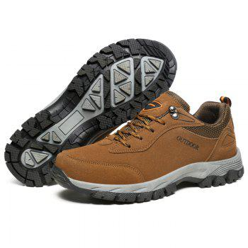 Men Fashion Big Size Outdoor Soft Shoes - BROWN 48
