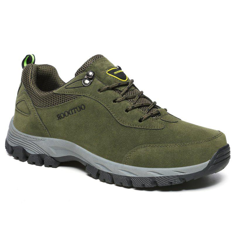 Men Fashion Big Size Outdoor Soft Shoes - ARMYGREEN 42
