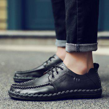 Soft Breathable Natural Low Durable Comfortable Leisure Shoes - BLACK BLACK