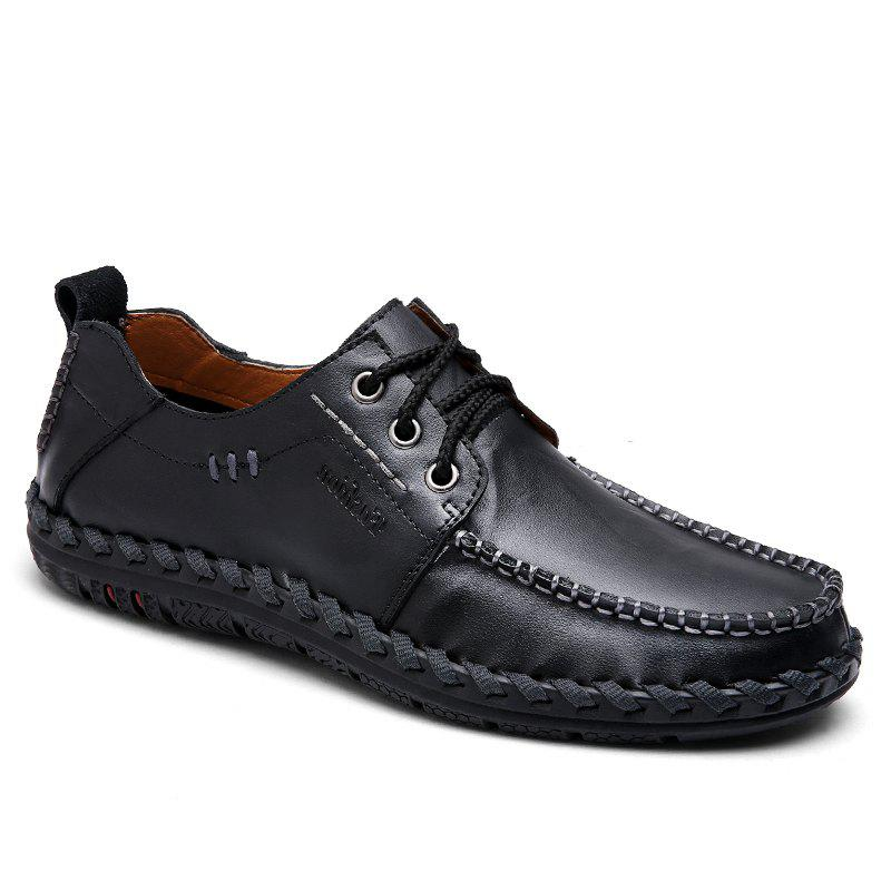 Soft Breathable Natural Low Durable Comfortable Leisure Shoes - BLACK 38