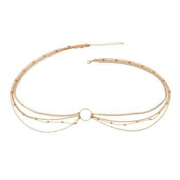 Fashion Simple Jewelry Geometric Circle Metal Multi-layered Waist Chain Women's Clothing Accessories - GOLDEN GOLDEN