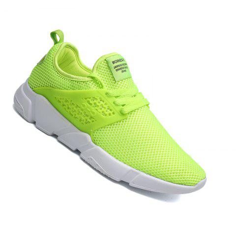 2102a368da0 Men Casual Fashion Mesh Spring Autumn EVA Lace Up Athletic Walking Shoes -  GREEN 43