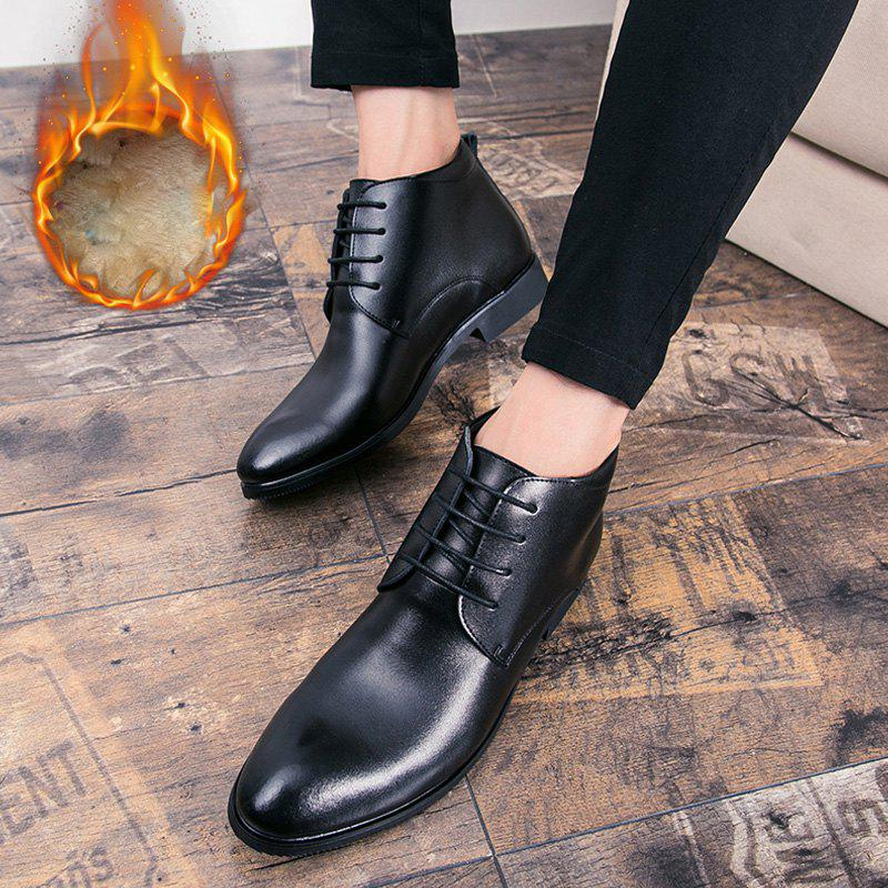 Business Chaud en cuir doux chaussures de plein air officiel britannique occasionnel - Noir 43